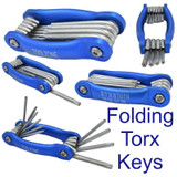 Folding Torx Star Key 10pc Set Tamper Proof Tamperproof Security Torks SD087