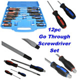 12pc Screwdriver Set Screwdrivers Flat Phillips SCR001