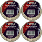 Garden String Jute 4 pack Spear and Jackson 75m Plants Support Ties STRING