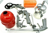 Air Compressor Tool Kit  5PC Gravity Spray Gun Tyre Inflator Duster  AT034