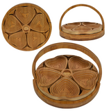 Folding Bamboo Bowl- 5 Hearts