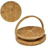 Folding Bamboo Bowl- 3 Section