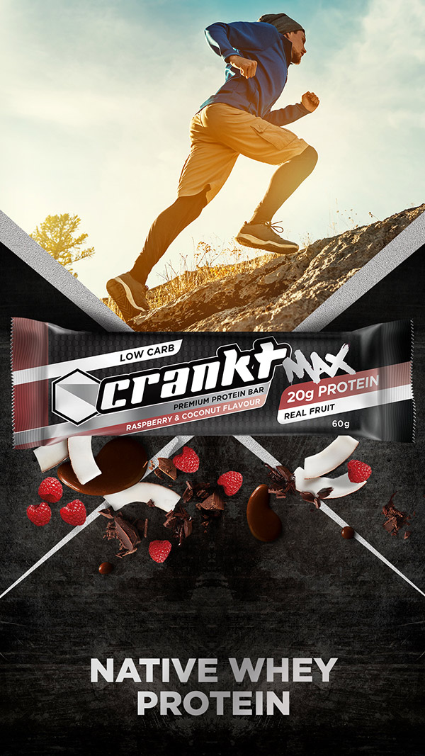 Raspberry & Chocolate Crankt Max Protein Bar