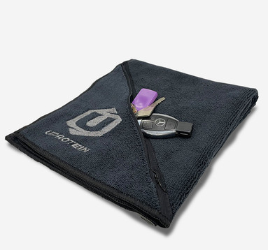 UPROTEIN Gym Towel - Microfibre with Zip Pocket