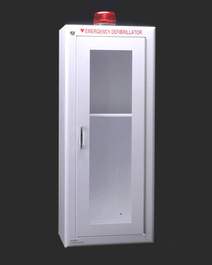 Large AED & Emergency Oxygen Wall Cabinet with alarm
