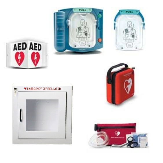 Business AED Package - Cabinet w/o Alarm including Philips OnSite AED