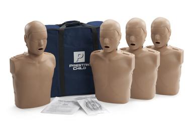 Prestan Child Manikin with CPR Monitor 4-Pack - Dark Skin