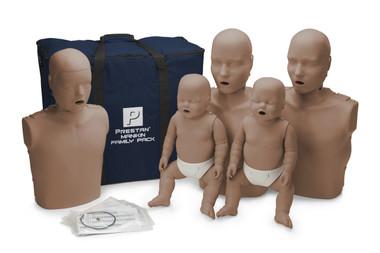 PRESTAN Family Manikin Pack Dark Skin (PP-FM-500M-DS)