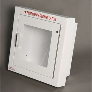 Semi-Recessed AED Wall Cabinet with Alarm