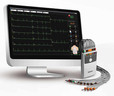 Edan USA 12 Lead Wired PC Based ECG Interpretive with Accessories