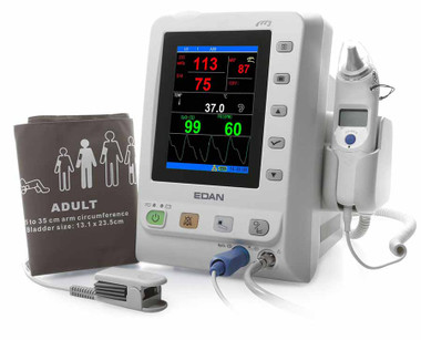 Edan M3 NST Vital Signs Monitor with NiBP, SpO2 and Temperature