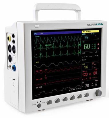 Edan iM8 Patient Monitor with ECG, NIBP, SpO2, Temp, PR,
