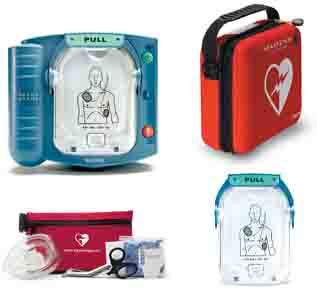 Philips OnSite AED with Standard carry case, spare pads and Fast Response Kit