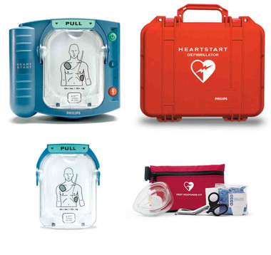 Lease to Own Philips OnSite AED with Pelican case, Spare pads and Fast Response Kit