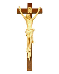 Victory Handcarved Crucifix 36""