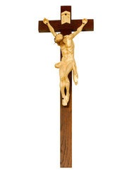 Christ in Agony Handcarved Crucifix 46""