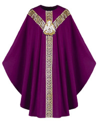 Gothic Chasuble with Handembroidered Pelican Emblem