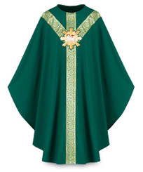 Gothic Chasuble with Handembroidered Lamb of God Emblem