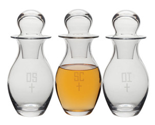Glass Chrismal Set (4, 10 or 48 oz)