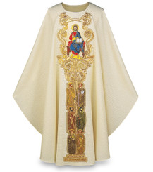 """Jesus Pantocrator"" Gothic Chasuble with Gold Embroidery"
