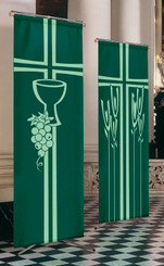 Inside Banner with Chalice and Grapenvine or Ears of Corn Design