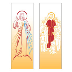 Inside Banner with Divine Mercy or Jesus with Children Design