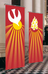 Inside Banner with Holy Spirit or Red Flames Design