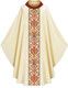 Beige Chasuble with White/Red Orphrey