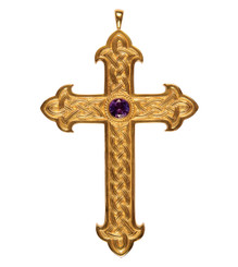 Pectoral Cross with Amethyst 4.5""