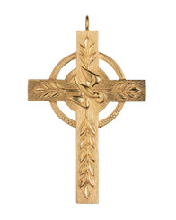 Pectoral Cross with Dove 3.5""