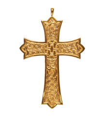 Pectoral Cross with Engraved Design 4.5""