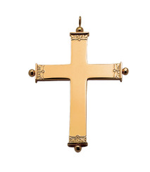 Polished Pectoral Cross 4""