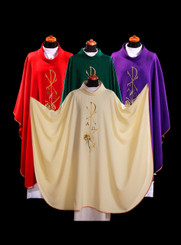 Gothic Chasuble with Chi-Rho Embroidery
