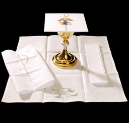 Complete Mass Linen Set with Chi-Rho Embroidery