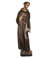 St Fransic with Dove Statue