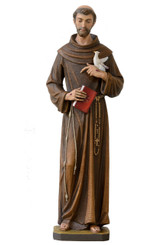 St Fransic with Dove and Book Statue