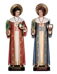 St Cosmas and St Damien Statues