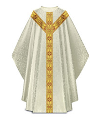 Gothic Chasuble in Duomo Fabric with Gold Band