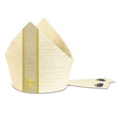 Miter in Cantate Fabric with Embroidered Cross