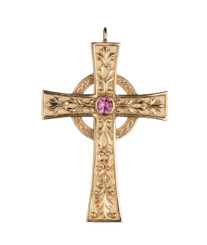 Pectoral Cross with Amethyst 3.25""