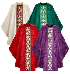 Gothic Chasuble in Rafael fabric with Woven Band