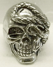 Skull and Snake Ring Petwer
