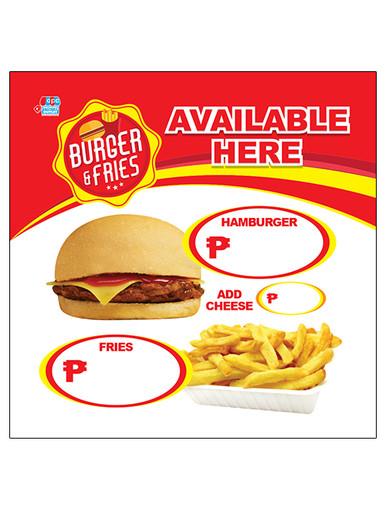 Menu Tarp for Burger Negosyo or Business