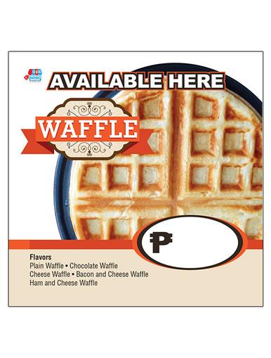 belgian waffle menu tarp for belgian waffle business