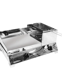 griddle with fryer