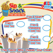 OPC Sip & Snack Menu Tarp 17X17 IN