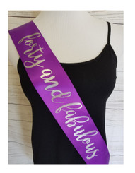 Personalized Sash for Birthday comes with a rhinestone pin