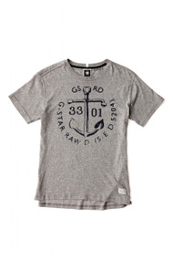 Grey printed black, Gant Tee