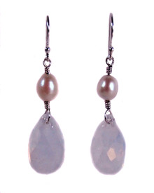 Swarovski Crystal and Freshwater Pearl Victoria Earrings