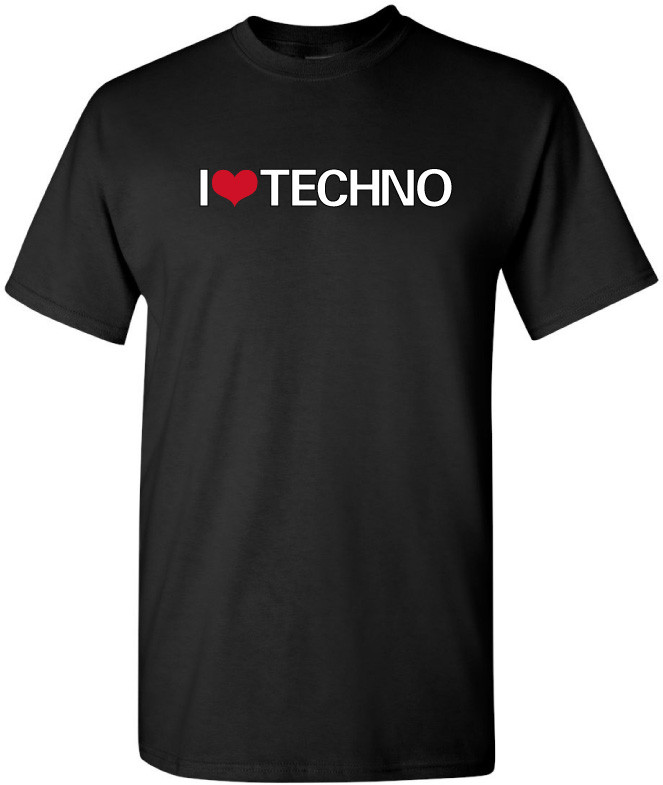 informazioni per 041d2 992fd I Love Techno Electronic Music Party Tshirt